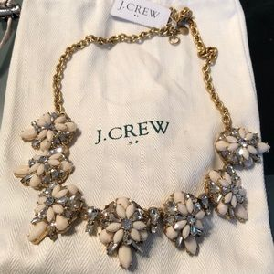 J. Crew Factory Ivory and Crystal Necklace